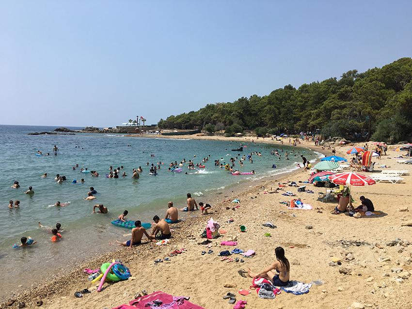 Incekum strand, stranden i Incekum, Alanya Incekum, Camping Incekum, Camping i Alanya