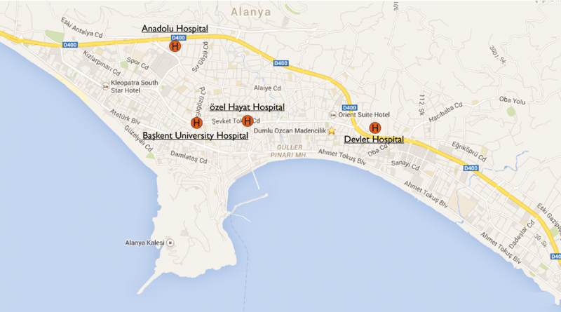 Hospitaler i Alanya, hospitalet alanya, hospiler i alanya, hospitalskode, baskent hospital, anadolu hospotal, devlet hospital, sygehus alanya, sygehus tyrkiet, syg i alanya, kode til hospital