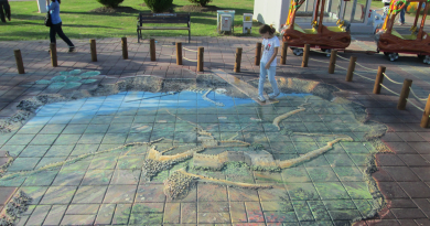 alanyas havn, kunst alanya, 3d maleri alanya, 3d painting alanya, alanya havn, havnen i alanya