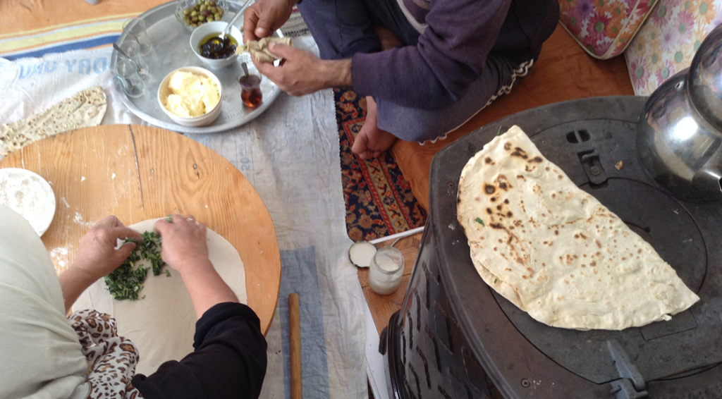 gözleme, tyrkiske pandekager, traditional tyrkisk mad
