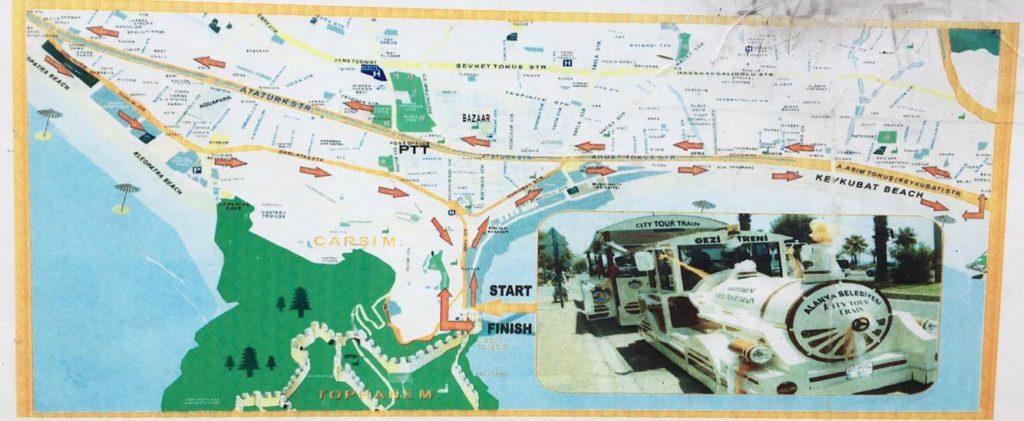 Alanya city tog, oplevelser i alanya, oplevelser for børn i alanya, alanya city train, alanya sightseeing, sightseeing alanya
