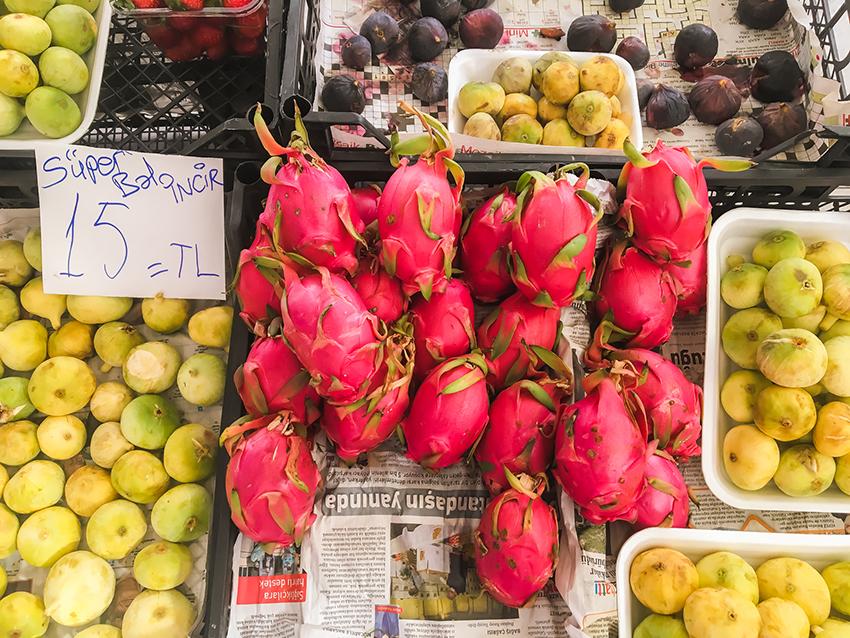 dragefrugt, oktober marked, markeder i Alanya, bazar i Alanya, Bazar, alanya bazar, frugt marked i Alanya, oktober i Alanya