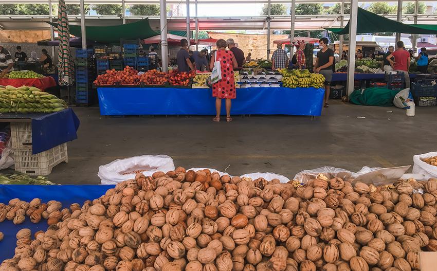 valnødder, valnødder alanya, oktober marked, markeder i Alanya, bazar i Alanya, Bazar, alanya bazar, frugt marked i Alanya, oktober i Alanya
