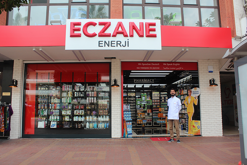 Apotek alanya, enerji apotek alanya, pharmacy alanya, alanya pharmacy, Enerji Ezcane, månendens virksomhed, virksomhed i alanya, alanya dk, alanya, alanya tyrkiet,