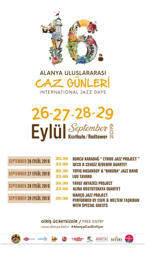 Jazz festival 2019, Alanya jazz festival 2019, festival i alanya, begvivenheder i alanya, alanya bgivenheder, oplevelser i alanya, alanya jazz