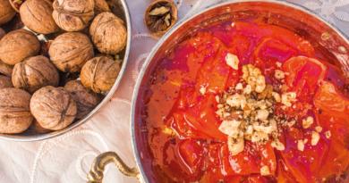 kabak tatli, opskrift på tyrkisk mad, tyrkisk kage, græskar kage, sødet græskar