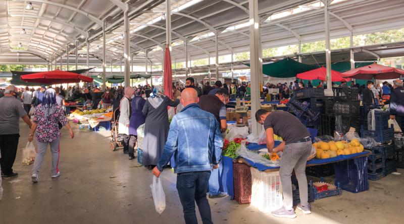 Alanya markeder, frugt og grønt bazar, markeder i Alanya, marked i April, alanya april marked, Alanya i April,