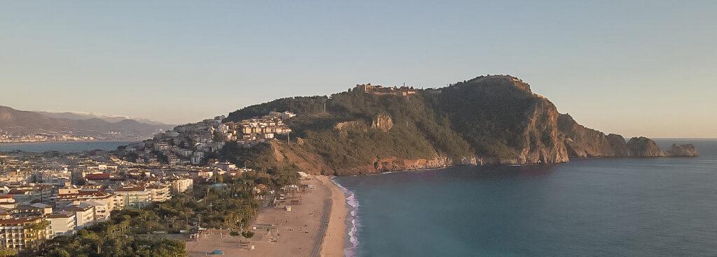 Alanya borg, Cleopatra beach, oplevelser i Alanya, Alanya gratis oplevelser, Hiking i Alanya, Alanya historie, Borgens næse,