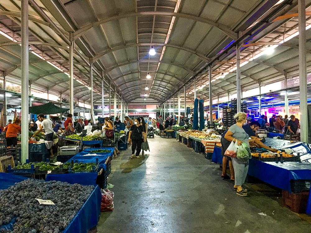bazar i september, september bazar i Alanya, markeder i Alanya, fiske bazaren