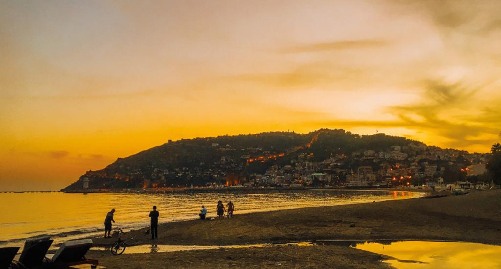 Alanya, Alanya borgen, det tyrkiske sprog, ord på tyrkisk, tyrkisk kultur, Tyrkiet, solnedgang