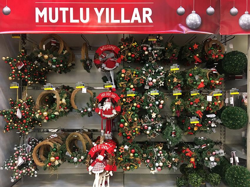 Julepynt i Alanya, Alanya julepynt, Metro i Alanya, Kostas julepynt, Jul i Alanya